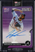 Baseball Cards:Singles (1970-Now), 2020 Topps Now Ian Anderson (Autograph) #346A, #'d 25/25!...