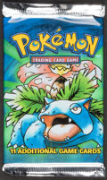 Memorabilia:Trading Cards, Pokémon Unlimited Base Set Sealed Booster Pack (Wizards of the Coast, 1999). ...