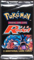 Memorabilia:Trading Cards, Pokémon Unlimited Team Rocket Set Sealed Booster Pack (Wizards of the Coast, 2000). ...