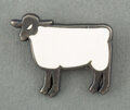 Jewelry, François-Xavier Lalanne (French, 1927-2008). Mouton Brooch, c. 1990. Metal, enamel. 1 x 1-1/4 x 0-1/4 inches (2.5 x 3.2 ...