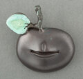 Jewelry, Claude Lalanne (French, 1924-2019). Pomme Bouche Brooch, c. 1990. Patinated bronze. 1-1/4 x 1-3/4 x 0-1/4 inches (3.2 x ...