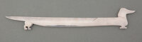 Hermès (French, est. 1837) Dachsund Letter Opener, circa 1955 Sterling silver 1-1/2 x 9-1/4 x 0-1/8 inches (3.8 x...