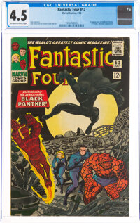 Fantastic Four #52 (Marvel, 1966) CGC VG+ 4.5 Off-white to white pages