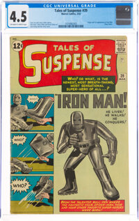 Tales of Suspense #39 (Marvel, 1963) CGC VG+ 4.5 Off-white to white pages