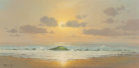G. Harvey (American, 1933-2017) Morning Surf, 1967 Oil on canvas 24 x 48 inches (61.0 x 121.9 cm) Signed and dated l