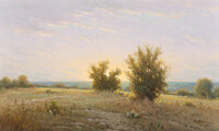 Jerry Ruthven (American, b. 1947) A New Day, 1983 Oil on canvas 12 x 20 inches (30.5 x 50.8 cm) Signed and dated low