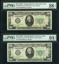 Fr. 2058-B $20 1934D Wide Federal Reserve Note. PMG Choice About Unc 58 EPQ; Fr. 2058-H $20 1934D Narrow Federal Reserve...