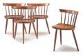 Furniture, George Nakashima (American, 1905-1990). A Group of Four Mira Chairs, circa 1960. American black walnut. 26-1/2 x 19-3/4 ... (Total: 4 Items)