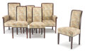 Furniture, Charles Sumner Greene (American, 1868-1957) & Henry Mather Greene (American, 1870-1954). A Group of Six Chairs for the Dra... (Total: 6 Items)