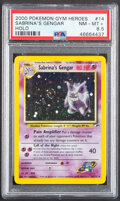 Memorabilia:Trading Cards, Pokémon Sabrina's Gengar #14 Unlimited Gym Heroes Set Trading Card (Wizards of the Coast, 2000) PSA NM-MT+ 8.5....