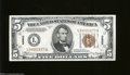 Small Size:World War II Emergency Notes, Fr. 2302 $5 1934-A Hawaii Federal Reserve Note. Choice About ...