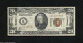 Small Size:World War II Emergency Notes, Fr. 2304 $20 Mule 1934 Hawaii Federal Reserve Note. About ...