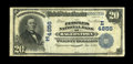 National Bank Notes:Maryland, Hagerstown, MD - $20 1902 Date Back Fr. 647 The Peoples NB Ch. #(E)4856. ...