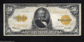 Large Size:Gold Certificates, Fr. 1200 $50 1922 Gold Certificate Very Fine. A solid ...