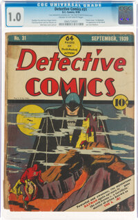 Detective Comics #31 (DC, 1939) CGC FR 1.0 Cream to off-white pages