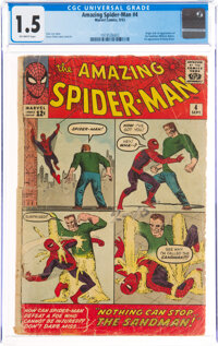 The Amazing Spider-Man #4 (Marvel, 1963) CGC FR/GD 1.5 Off-white pages