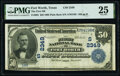 Fort Worth, TX - $50 1902 Plain Back Fr. 682 The First National Bank Ch. # (S)2349 PMG Very Fine 25