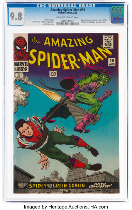 The Amazing Spider-Man #39 (Marvel, 1966) CGC NM/MT 9.8 Off-white to white pages....