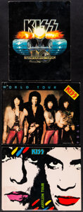 """Movie Posters:Rock and Roll, KISS Lot (Mercury Records/KISS Army, 1983-1985). Fine/Very Fine. Tour Programs (3) (20, 24, & 26 Pages, 11"""" X 14"""") & Band Pe... (Total: 4 Items)"""