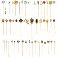 Estate Jewelry:Brooches - Pins, Antique Diamond, Multi-Stone, Seed Pearl, Enamel, Platinum, Gold, Yellow Metal Stickpins. ... (Total: 46 Items)