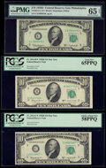 Small Size:Federal Reserve Notes, Fr. 2014-B*; C; C* $10 1950D Federal Reserve Notes. PCGS Gem New 65PPQ; PMG Gem Uncirculated 65 EPQ; PCGS Choice About New 58P... (Total: 3 notes)