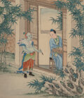 Paintings, Three Chinese Scholar Paintings, Republic Period. 16-1/2 x 14-3/4 inches (41.9 x 37.5 cm) (each). ... (Total: 3 Items)