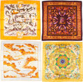 """Luxury Accessories:Accessories, Hermès Set of Four: 90cm Silk Scarves. Condition: 2. 35"""" Width x 35"""" Height. ... (Total: ..."""