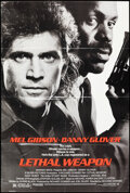 """Movie Posters:Action, Lethal Weapon & Other Lot (Warner Bros., 1987). Folded, Fine. One Sheet (2) (27"""" X 41"""") Action.. ..."""