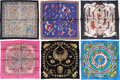 """Luxury Accessories:Accessories, Hermès Set of Six: 45cm Silk Scarves. Condition: 2. 17"""" Width x 17"""" Height . ... (Total: ..."""