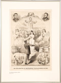 """Political:Posters & Broadsides (pre-1896), """"The Declaration of Independence Fulfilled"""" Lithograph."""