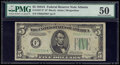 Small Size:Federal Reserve Notes, Fr. 1957-F* $5 1934A Federal Reserve Star Note. PMG About Uncirculated 50.. ...