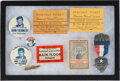Political:Pinback Buttons (1896-present), John F. Kennedy: Button and Convention Ticket Collection....