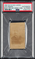 Baseball Cards:Singles (Pre-1930), 1887-90 N172 Old Judge Cap Anson (Street Clothes) #11-1 PSA Authentic....