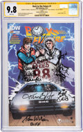 Movie/TV Memorabilia:Autographs and Signed Items, Back to the Future #1 Comic Signed b...