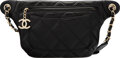 """Luxury Accessories:Bags, Chanel Black Quilted Calfskin Leather Bi Classic Belt Bag with Light Gold Hardware. Condition: 2. 13"""" Width x 6.5 """"Hei..."""