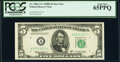 Small Size:Federal Reserve Notes, Fr. 1965-A*; B* $5 1950D Federal Reserve Star Notes. PCGS Graded Gem New 65PPQ; Gem New 66PPQ.. ... (Total: 2 notes)