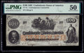 Confederate Notes:1862 Issues, CT41 $100 1862 Counterfeit PMG About Uncirculated 50.. ...
