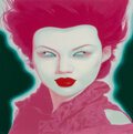 Prints & Multiples, Feng Zhengjie (b. 1968). Chinese Portrait No. 38, 2008. Screenprint in colors on wove paper. 31-3/4 x 31-3/4 inches (80....