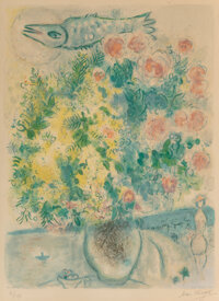 After Marc Chagall By Charles Sorlier Roses et Mimosas, from Nice et la Côte d'Azur</