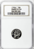 Proof Roosevelt Dimes: , 1964 10C PR69 Cameo NGC. NGC Census: (351/0). PCGS Population(288/1). Numismedia Wsl. Price for NGC/PCGS coin in PR69: $5...