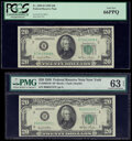 Small Size:Federal Reserve Notes, Fr. 2059-B; B* $20 1950 Federal Reserve Notes. PCGS Gem New 66PPQ; PMG Choice Uncirculated 63 EPQ.. ... (Total: 2 notes)
