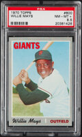 Baseball Cards:Singles (1970-Now), 1970 Topps Willie Mays #600 PSA NM-MT+ 8.5....