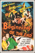 """Movie Posters:Science Fiction, Beginning of the End (Republic, 1957). Folded, Very Fine-. One Sheet (27"""" X 41""""). Science Fiction.. ..."""