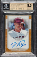 Baseball Cards:Singles (1970-Now), 2017 Topps Transcendent Mike Trout (Transcendent Collection Framed Autograph-Gold) #TCA-MT BGS Gem Mint 9.5, Auto 9 - #1 of 1...