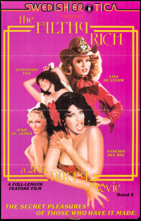 """The Filthy Rich: A 24 kt. Dirty Movie & Other Lot (Caballero Control, 1980). Folded, Fine+. One Sheets (2) (23""""..."""