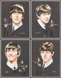 """Movie Posters:Rock and Roll, The Beatles (Selteab/Capitol Records, 1964/1994). Rolled, Very Fine+. Promotional Portraits (4) (14.25"""" X 18.25"""") & 30th Ann... (Total: 5 Items)"""