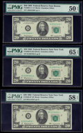 Small Size:Federal Reserve Notes, Fr. 2065-A*; B; B* $20 1963 Federal Reserve Notes. PMG Graded About Uncirculated 50 EPQ; Gem Uncirculated 65 EPQ; Choice About... (Total: 3 notes)