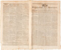 Political:Posters & Broadsides (pre-1896), Massachusetts Spy: Or, the Worchester Gazette Newspaper: Full Transcription of George Washington's State of the Union ...