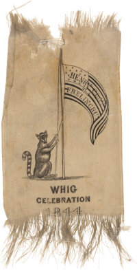 Henry Clay: Racoon & Flag Ribbon