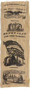 Political:Ribbons & Badges, Henry Clay: Graphic 1844 Convention Ribbon. ...